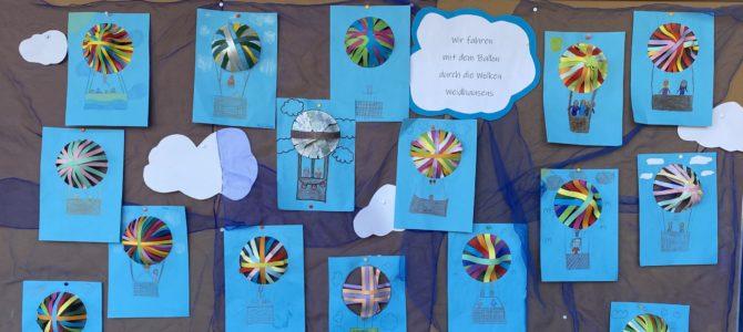 Bunte Heißluftballons der Klasse 3a